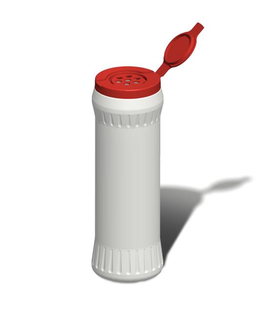 Банка пластиковая для сыпучих продуктов 500 мл открытая