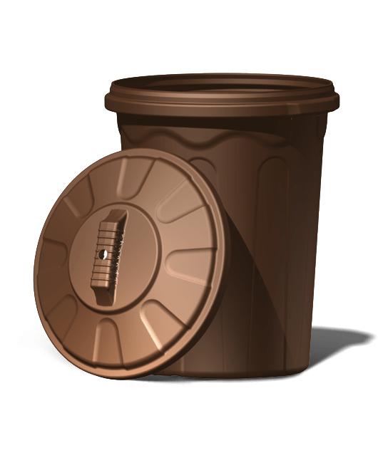 Бак хозяйственный пластиковый с крышкой 120 литров