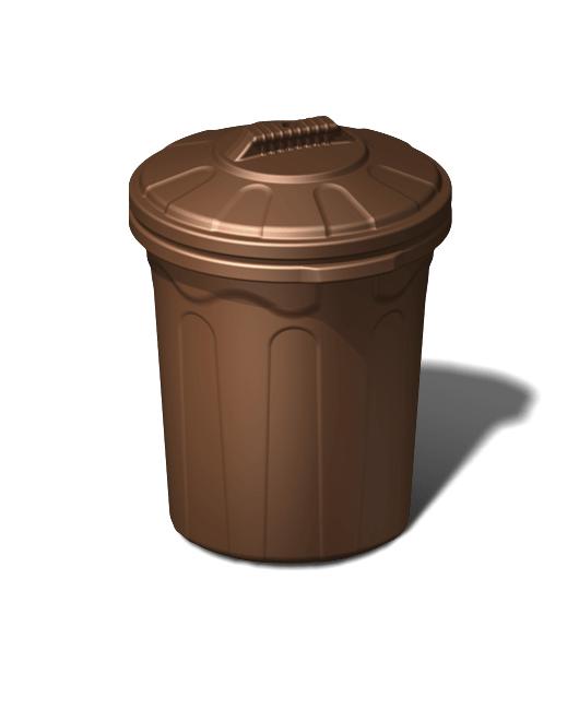 Бак пластиковый хозяйственный с крышкой 80 литров