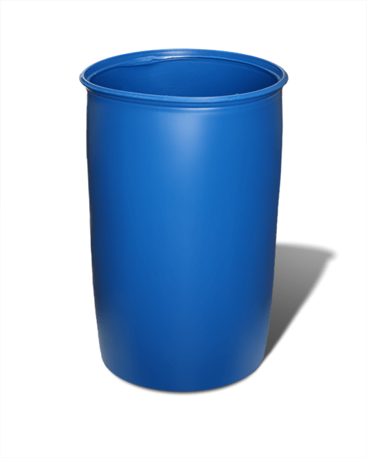 Бочка пластиковая барабан без крышки 227 литров