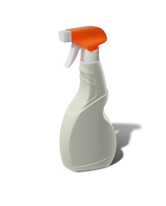 Бутылка пластиковая с триггером распылителем 500 мл