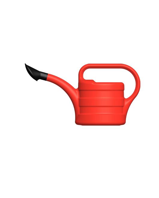Лейка садовая пластиковая с рассеивателем 5 литров спереди