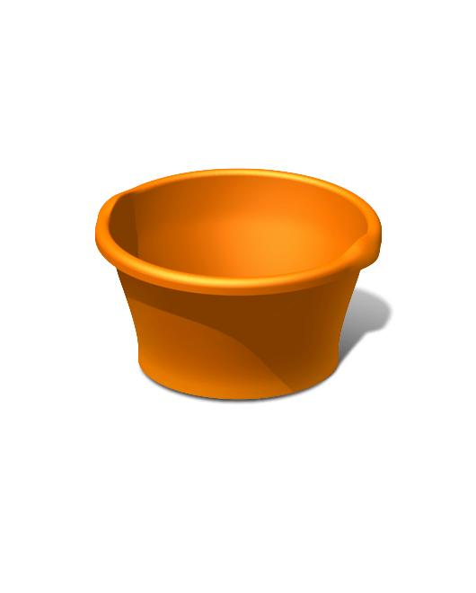 Таз пластиковый пищевой круглый 15 литров