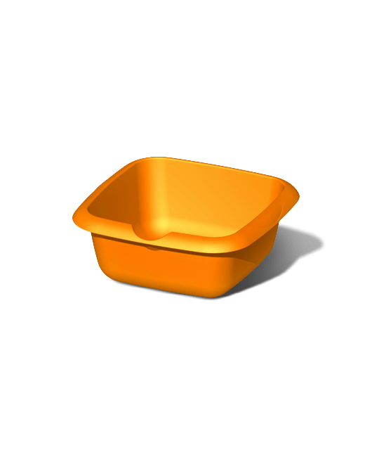 Таз пластиковый пищевой квадратный 7 литров