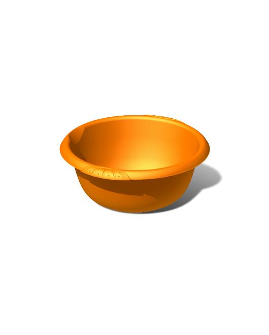 Таз пластиковый пищевой круглый 6 литров