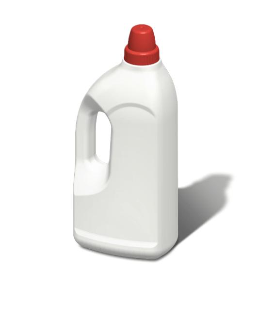 Бутылка пластиковая с ручкой и с мерным колпачком 1,2 л